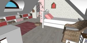 Dětský pokoj - pohled do malé postele